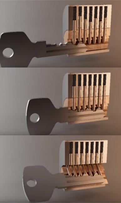 Sichere Schlüssel und Schloss für ihr Haus