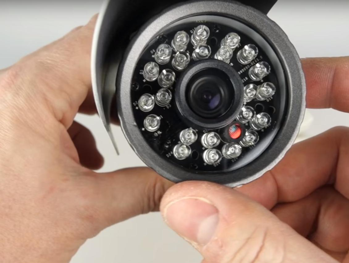 Objektiv Kamera zur Videoüberwachung des Hauses